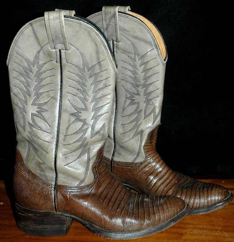 aec99e85a24 Exotic Nocona Lizard & Leather Cowboy Boots 7.5D ( mens)