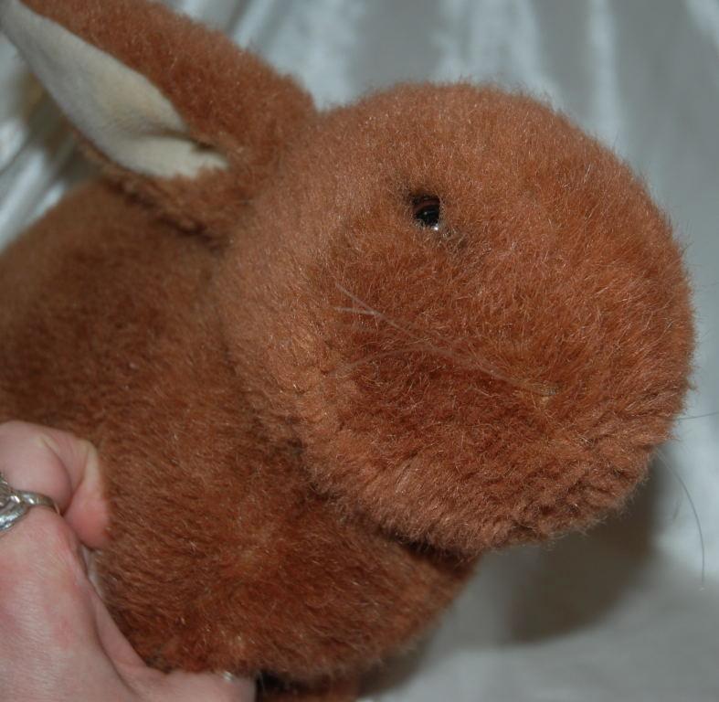 Vintage Dakin Brown  Bunny Rabbit Plush Animal 1984