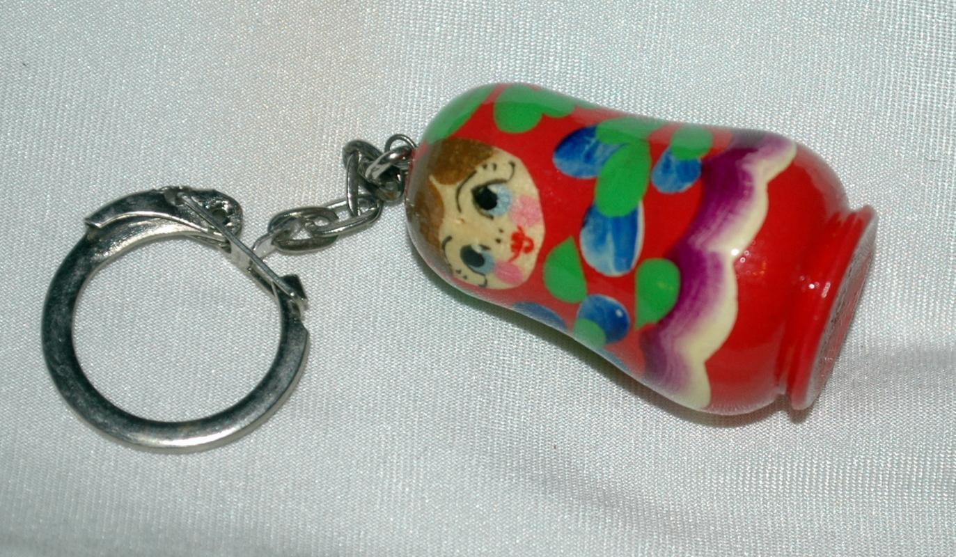 Hand Painted  MATROJKA Doll Key Chain  Free Shipping
