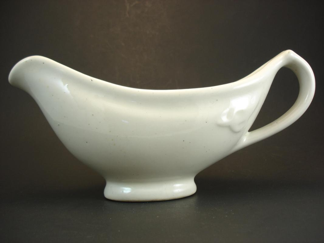 TEPCO CHINA GRAVY BOAT ARMY Vintage Art Deco Navy