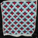 Antique Wool Hooked Needle Work Square with complex design