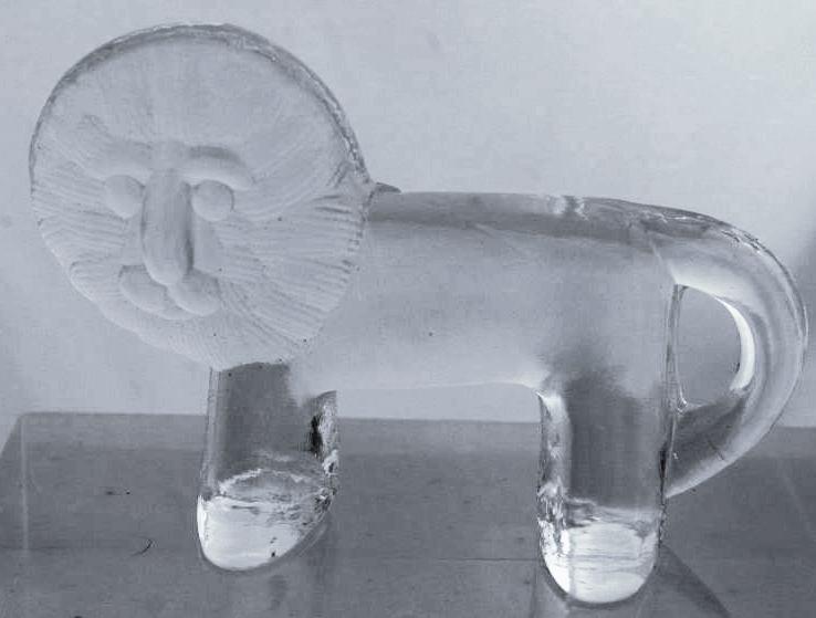 Bertil Vallen for Kosta Boda of Sweden Crystal Glass  Lion