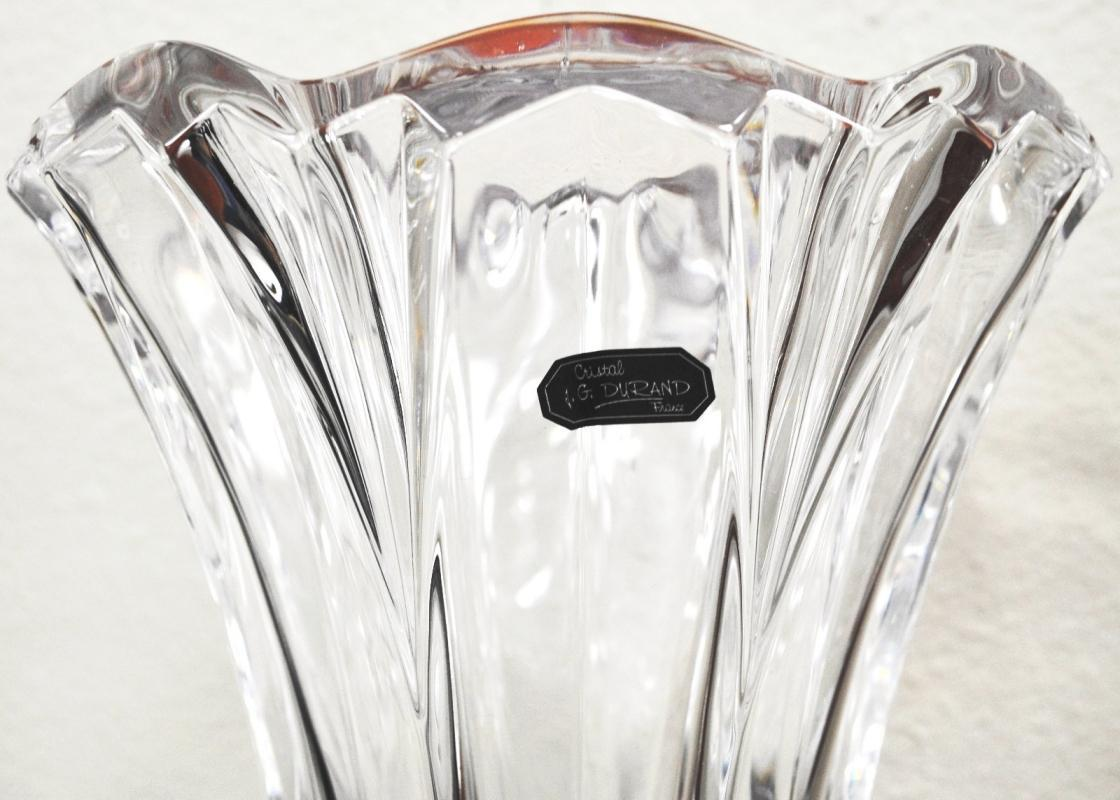 Cristal JG Durand Crystal Callipoe Vase 10.5