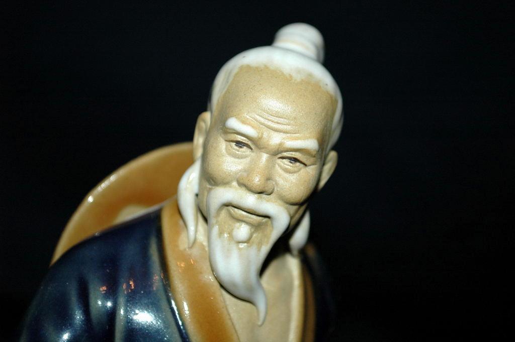 Large VINTAGE  Chinese MUDMAN CLAY SCULPTURE   Shekwan Ceramics