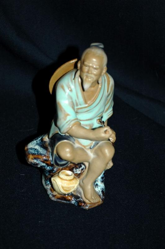 VINTAGE  Chinese MUDMAN CLAY SCULPTURE   Shekwan Ceramics