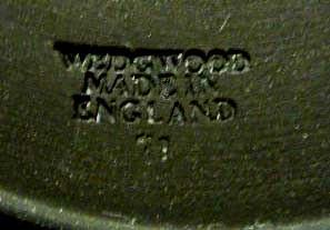 WEDGWOOD BLACK BASALT W/GOLD MOTHER PLATE