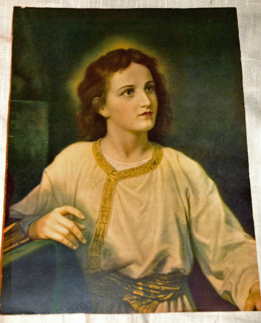 Lovely Old Print of Jesus as a boy