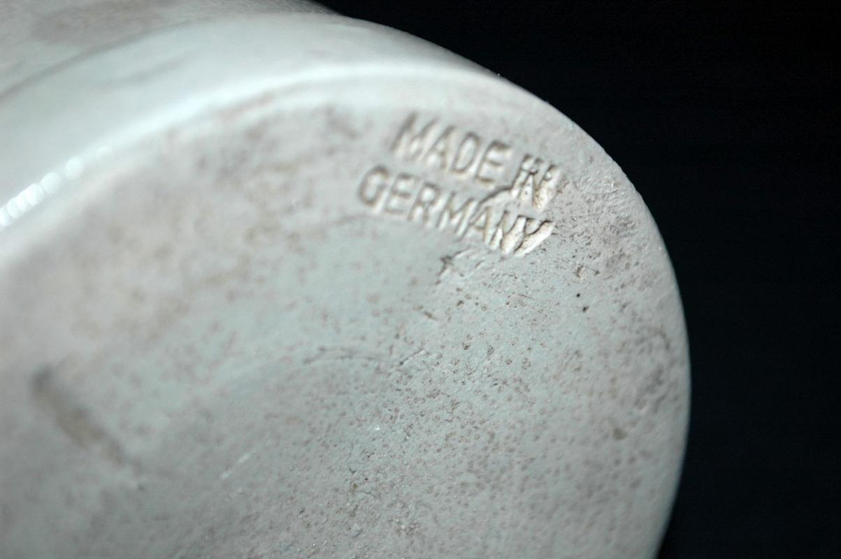 HB HOFBRAUHAUS BEER STEIN MUG 1 Liter  GERMANY SALT GLAZED Stoneware