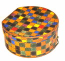 Vintage colorful painted hat or glove box
