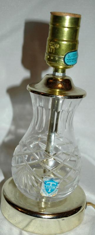 Tiffin 24% Lead Cut Crystal Small Table Lamp
