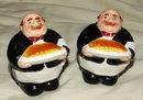 Chubby &  Jolly Waiter Salt & Pepper Shakers.