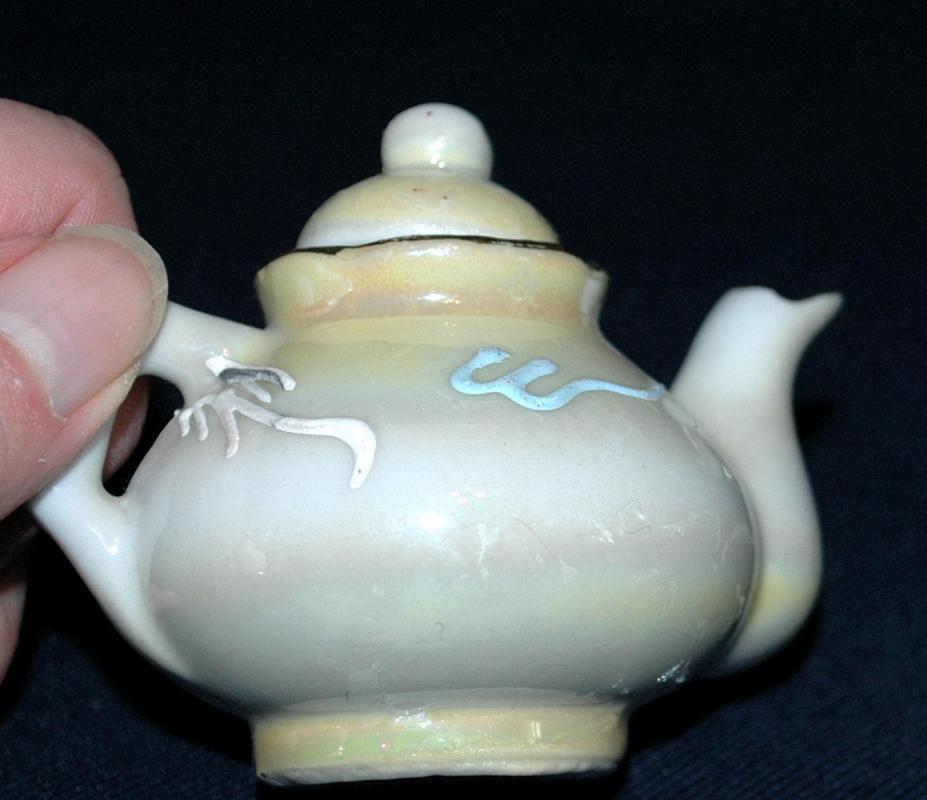 Dragonware Moriage Japanese Childrens Tea Set , Teapot & cup