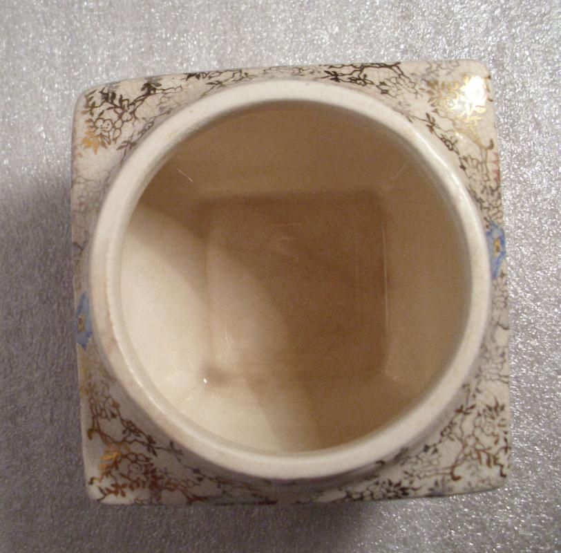 Sandland Ware Lancaster  & Sandland L.T.D. Hanely  England Lidded  Jam or Sugar Bowl    Chintz  Rose