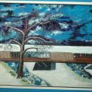 Snowy Covered Bridge Scene Painting by  T. Pembroke