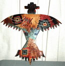 Enameled Metal Southwest Native American Eagle  Wall Art