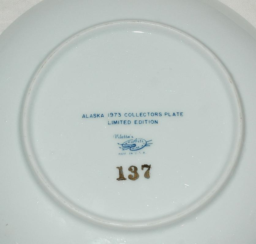 Alaska Huskies 1973 Collectors  Souvenir Plate Limited Edition