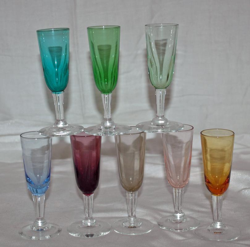 8 cordial liqueur stemmed glassware multiple colors