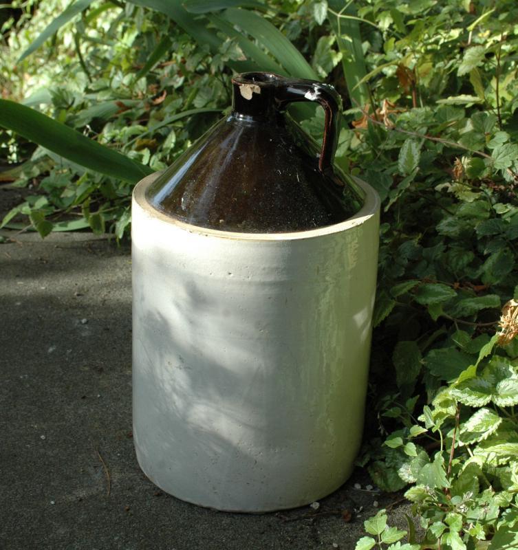 Stoneware Whiskey Jug 17