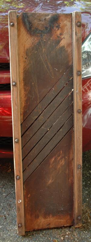 Giant Cabbage Slicer  Slaw Board Wood with 5 Blades , Primitive