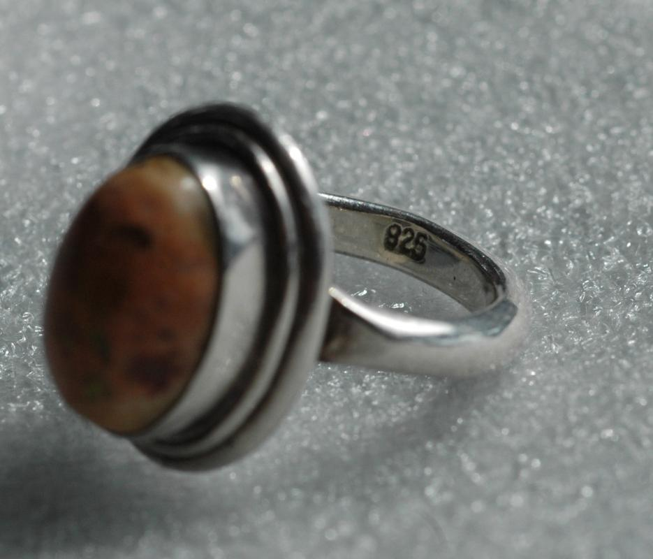 RARE Mexican Fire Opal Sterling Silver Ring sz 6.5