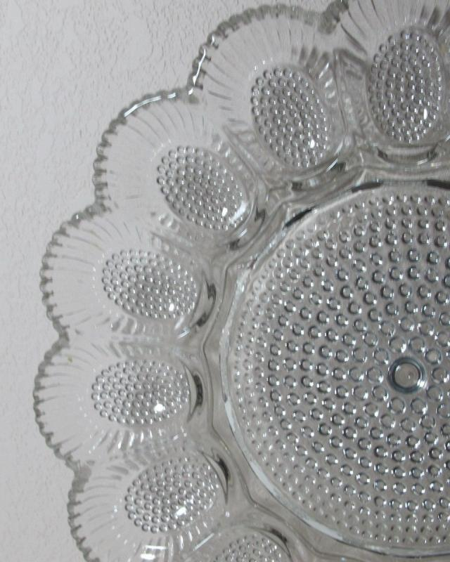 Vintage Indiana Clear Hobnail Glass - Deviled Egg Dish