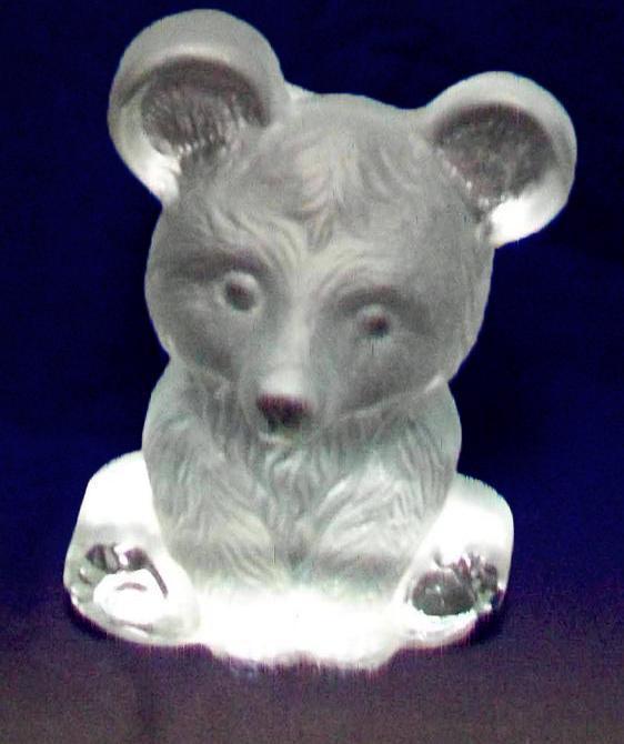 Viking glass  Bear paperweight