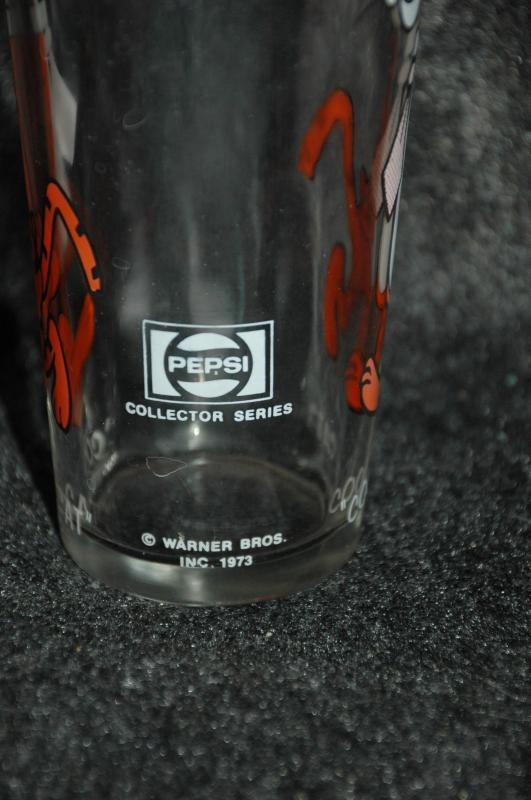 Cool Cat (Tiger)  Looney Tunes Drinking Glass  Warner Bros 1973 Pepsi Collector Series