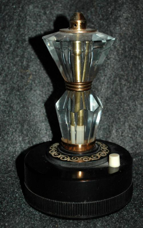 Gloria Electric Gas Table Lighter,  RARE Vintage  Glass