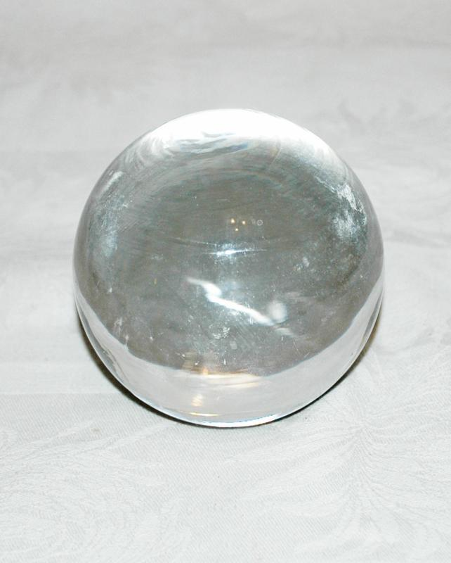Crystal Clear Blown Glass Ball Paperweight 3.5
