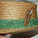 Golf Theme Straw Fedora Hat by Whitehall Dorfman  Genuine Milan Italy Size 7