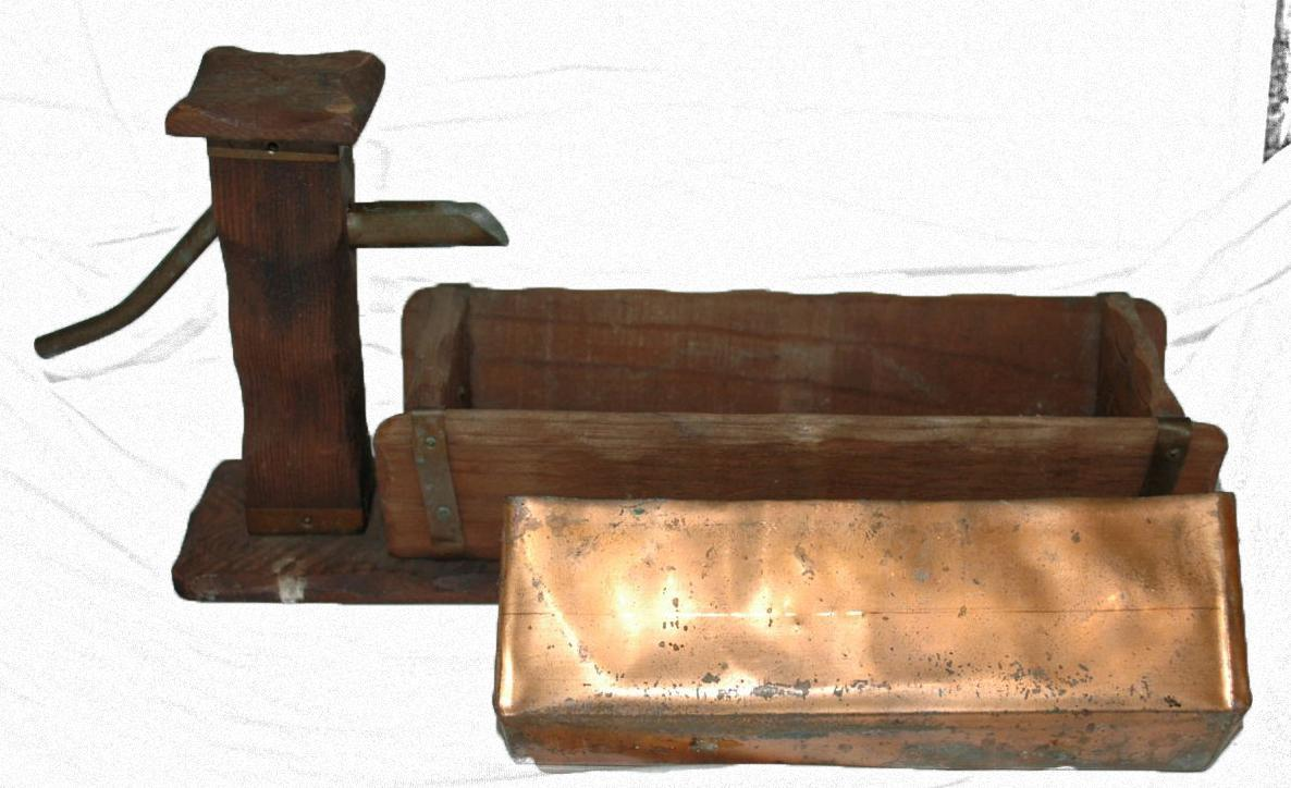 Wood and Copper Water Pump Trough Hand Crafted Folk Art Planter
