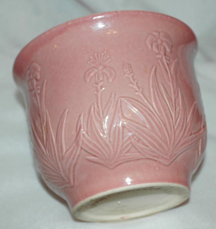 Vintage Sondgen Keramik  Planter West German Pottery Pink Planter / Mid Century