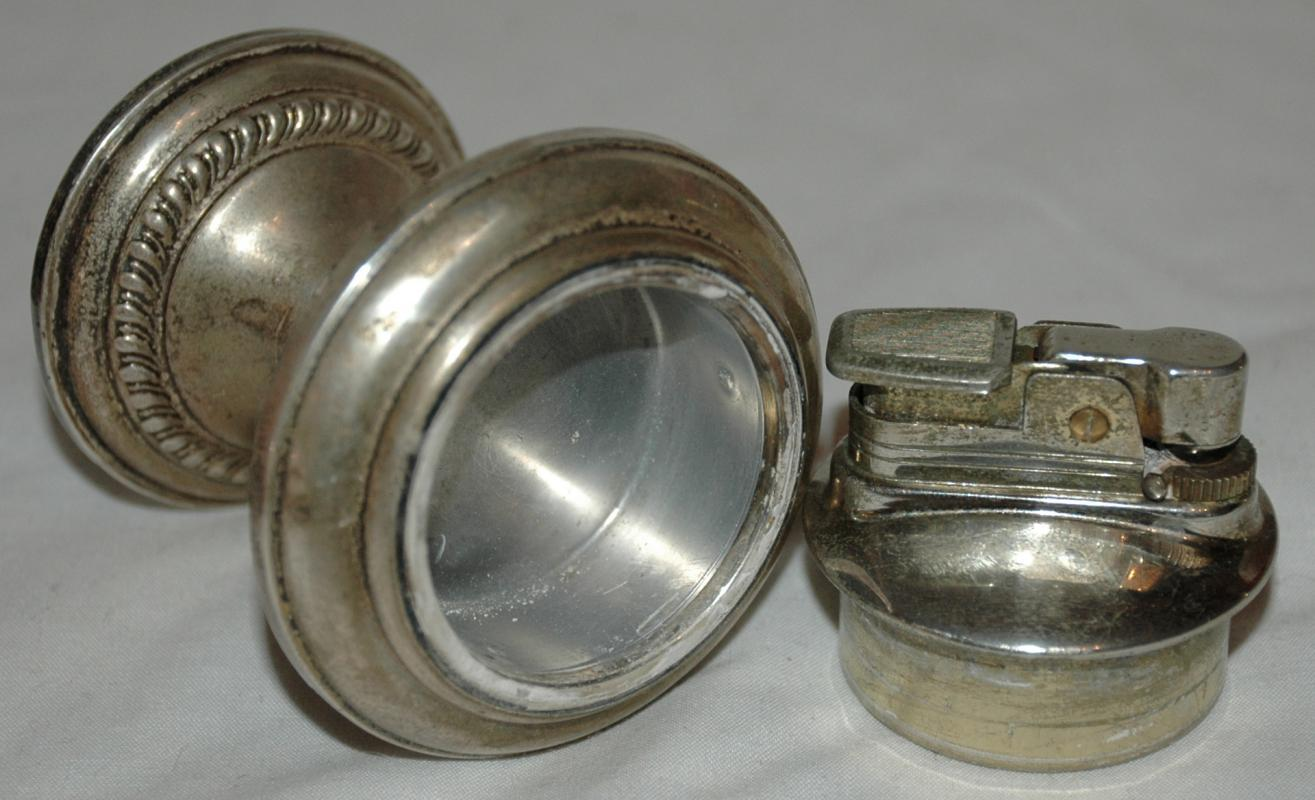 BEAUTIFUL VINTAGE EMPIRE STERLING SILVER TABLE LIGHTER