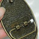 Century Canada Brass & Stone Belt Buckle