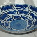 Japanese Kraak Style Large Porcelain Bowl with double foot ring