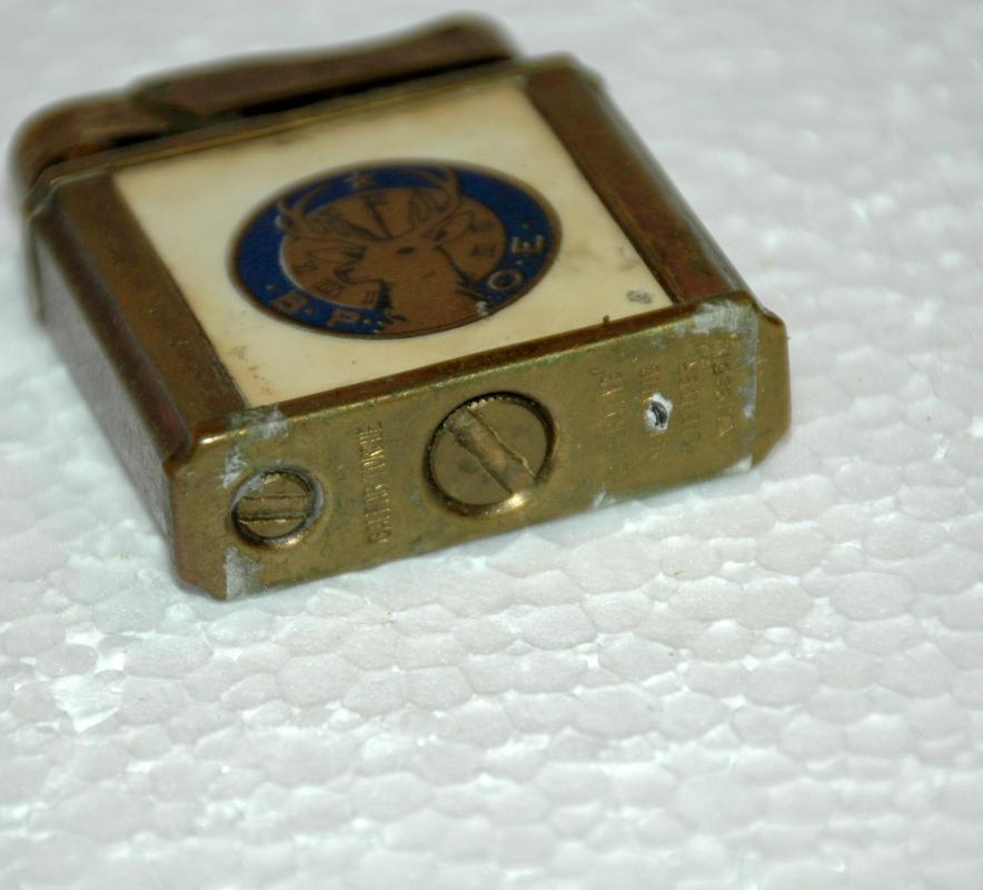 Vintage 1950's Cigarette Lighter. By Galpar  Torque Superlative Automatic  Elks BPOE