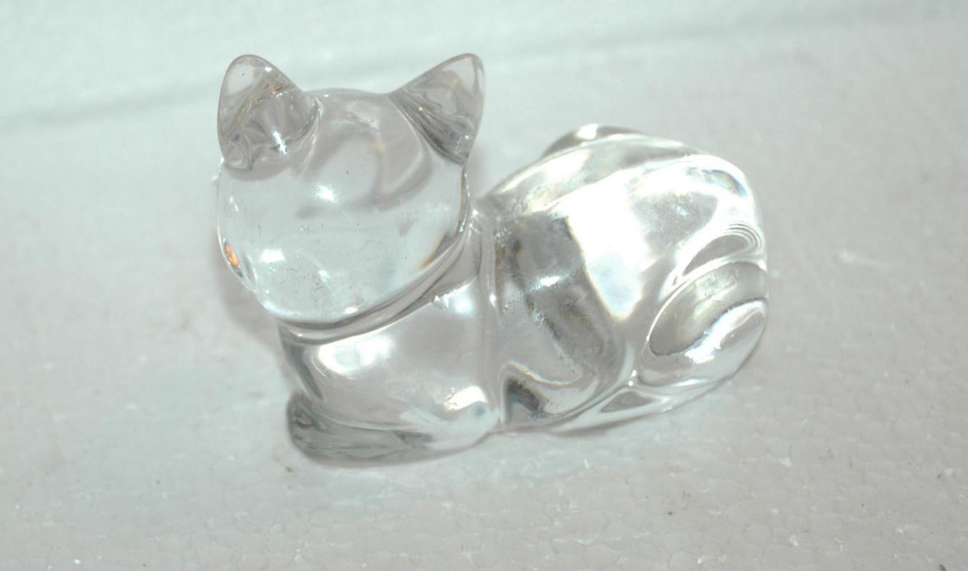 Princess House Pets  4% Lead Crystal Laying Cat