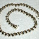 Fancy Italian Sterling Silver Slanted Links Necklace 37.5 Grams