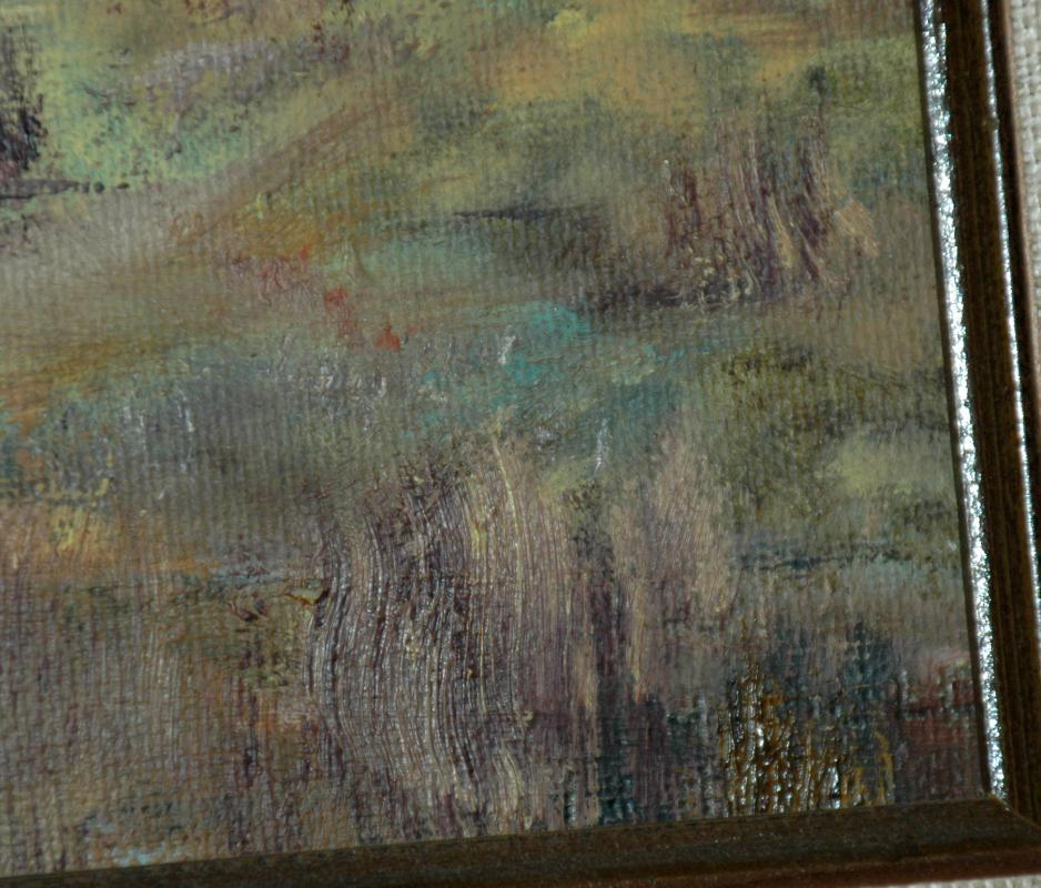 Original Waterfall, Stream Autumn Painting   Framed