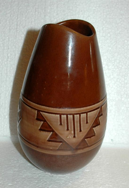 Lakota / Sioux Native American Pottery Vase  , Signed & Numbered
