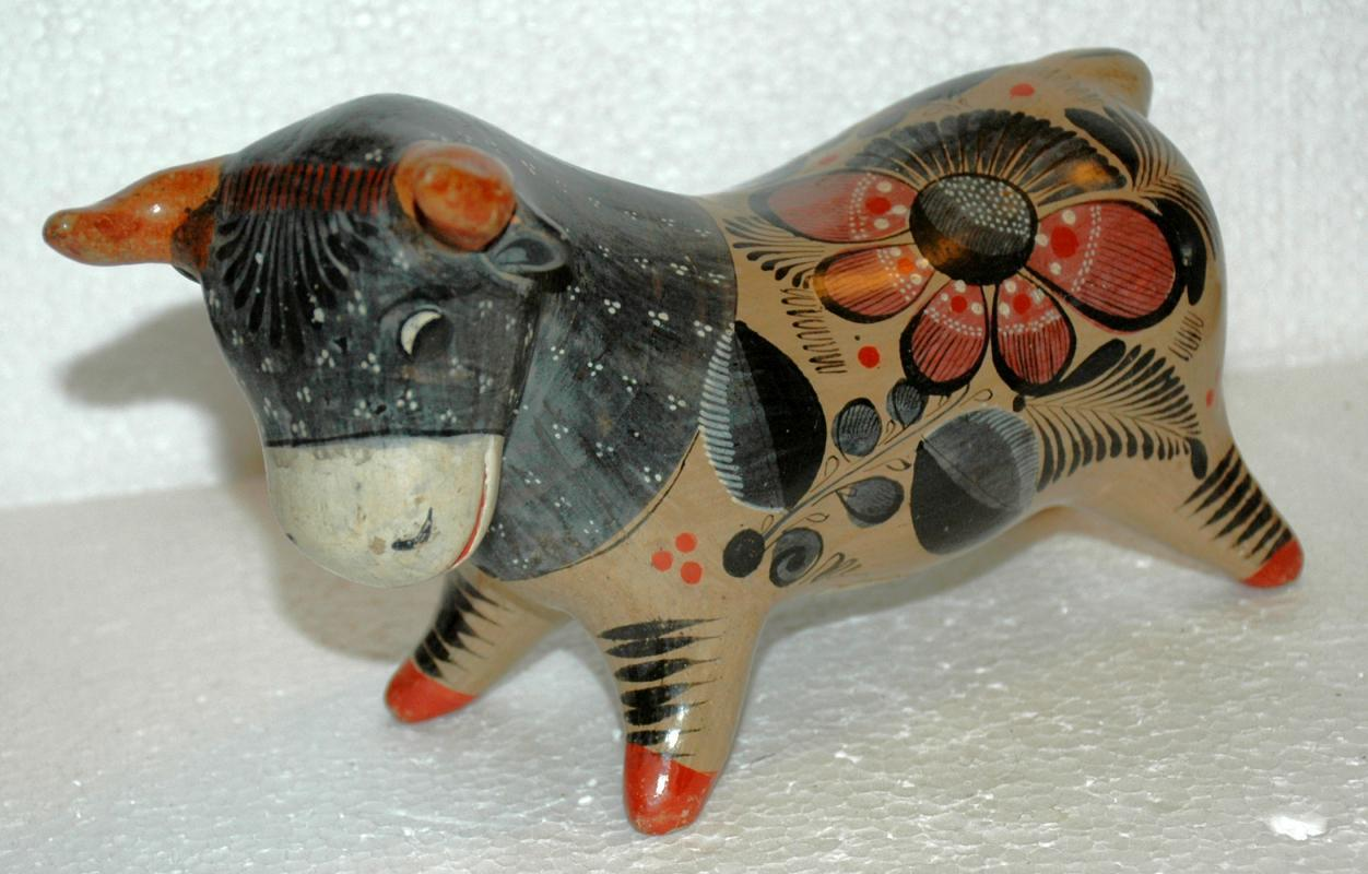 Mexican Burnish Pottery Bull