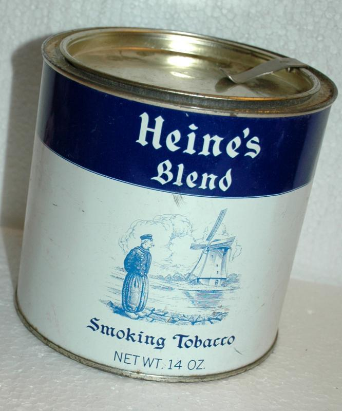 Heine's Blend Smoking Tobacco Sutliff Tobacco Co. Richmond Virginia   Can Container Tin