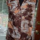 Sunset Pattern Pomare Made in Hawaii, sleeveless ladies blouse size 10  1970's