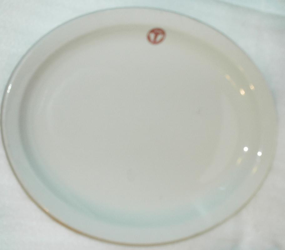 U.S.Army Medical Dept.  OVAL SERVING PLATTER Shenango Restaurant China 13