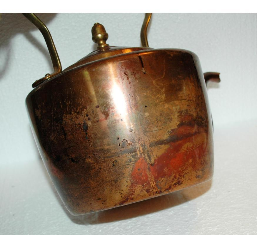 Copper Tea Kettle Hand Made with Brass Handle