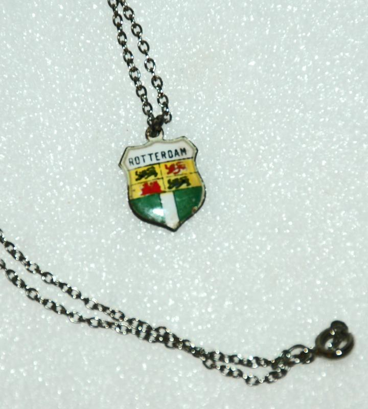 Coat of Arms Silver Enamel Charm Rotterdam
