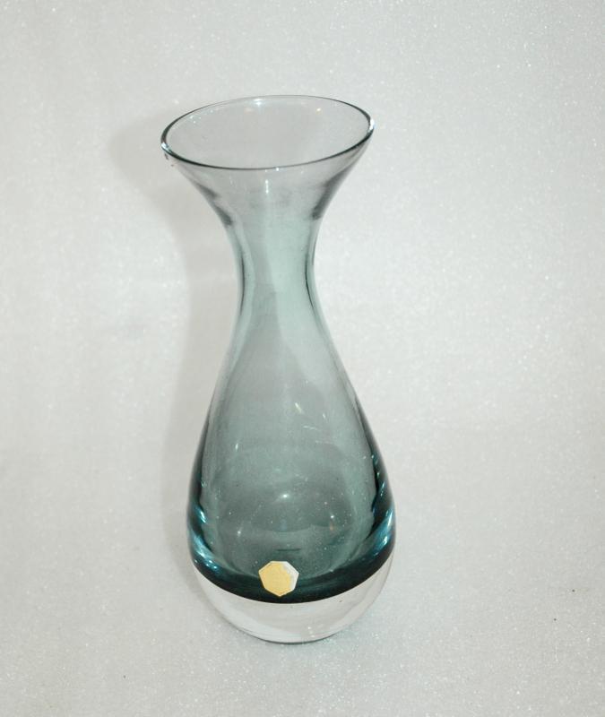 KOSTA GLASBRUK  Kosta Boda Steel Blue vase.