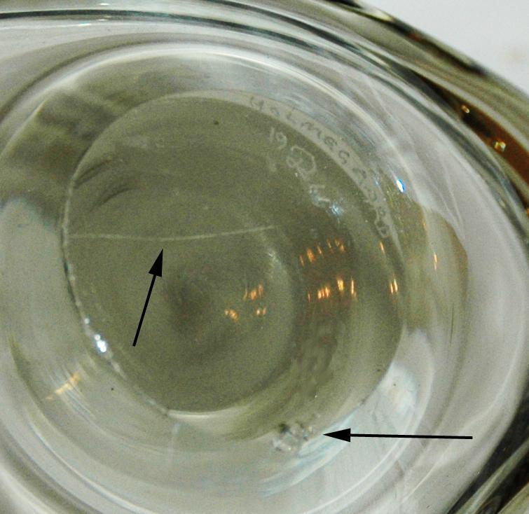 HOLMEGAARD/ PER LUTKEN/  SMOKY GLASS BOWL Biomorphic shape Signed    MID CENTURY MODERNIST