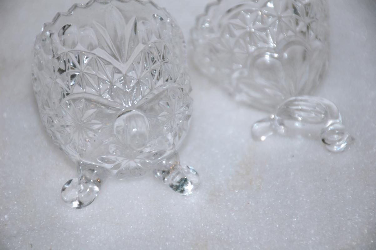 RARE Hofbauer Byrdes Crystal Egg with Bird Finial, German