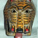 Guatemala Mask Carved Wooden Feline  Mask Old  Chichicastenango Ceremonial Mayan